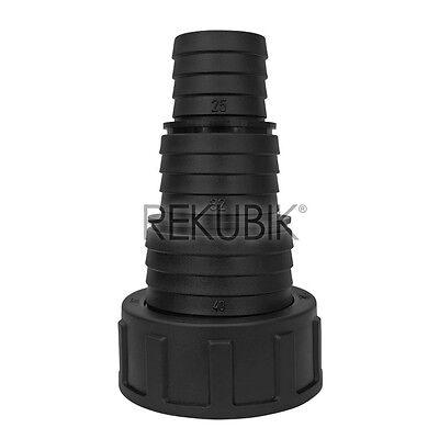 PP-Stufenschlauchtülle Überwurfmutter 1 1/2'' IG - 40 x 32 x 25 mm Tülle RK20862