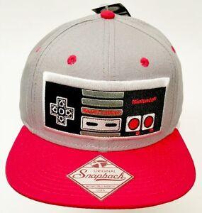 Image is loading Nintendo-Classic-Original-Snapback-Baseball-Cap-Hat-NES- ecd6155f3529