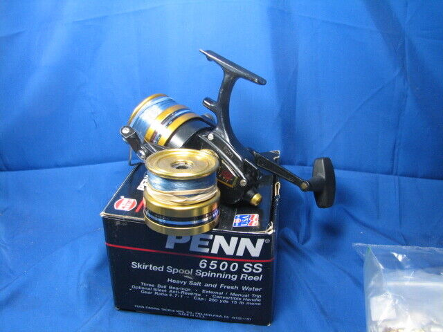 Penn 8500 SS Spinning Reel with Spare Spool Box all Papers Excellent Plus