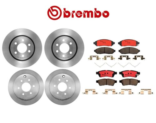 Complete Brake Friction Kit Brembo Rotors & Pads for Nissan Xterra Frontier