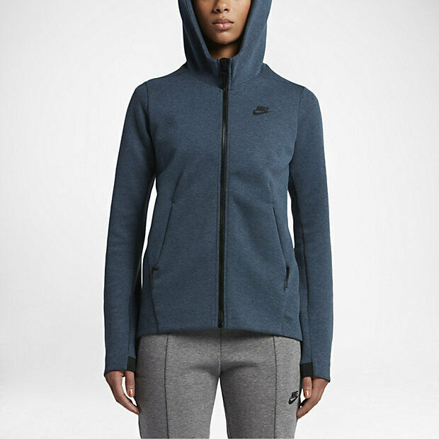 NWT - NIKE Women's 'SPORTSWEAR TECH FLEECE' 831709-464 bluee HOODIE - S