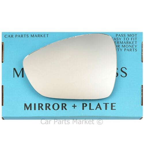 plate Left Passenger side Flat Wing door mirror glass for Citroen DS3 2009-15
