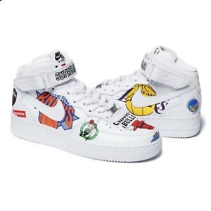 Details about Supreme X NBA X Nike Shoes Air Force 1 Mid White Size 12  CONFIRMED