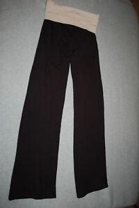 2fe15ec622 Image is loading Junior-Womens-BLACK-YOGA-PANTS-Stretch-Knit-OATMEAL-