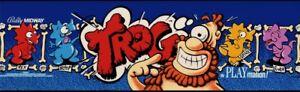 "Trog Arcade Marquee 26"" x 8"""