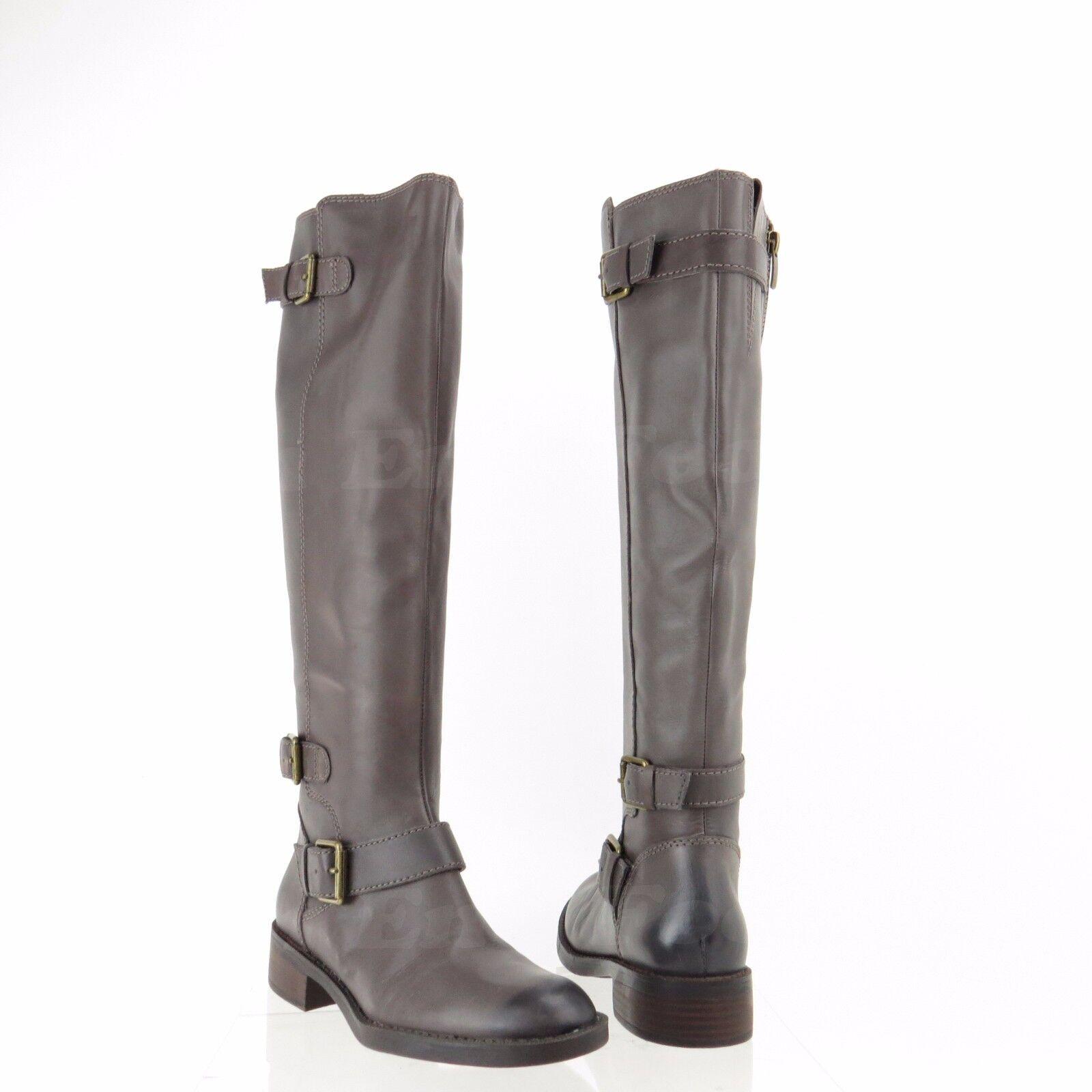 Enzo Angiolini Sayin Damenschuhe Schuhes Gray Leder Knee High Stiefel Größe 6 M NEU 200