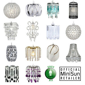MiniSun-Chandelier-Lampshade-Jewel-Easy-Fit-Non-Electric-Ceiling-Pendant-Shade