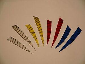 "25 Stck 4/"" u Naturfedern Zebra 12 o 5/""  Shield rechts Truthahnfedern Ferdern"