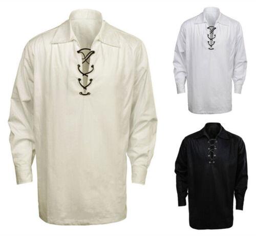Lot of 6 Scottish Highland Jacobite Jacobean Ghillie Kilt Shirt 3 Colors
