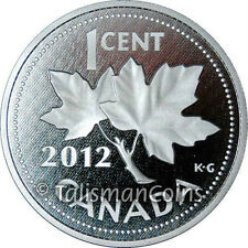 Canada 2012 Farewell to the Penny 1 Cent 5 Oz Pure Silver Proof - MINTAGE 1,500