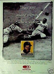 1997-Brooklyn-Dodgers-Jackie-Robinson-Memorabilia-Donruss-Baseball-Cards-Art-AD
