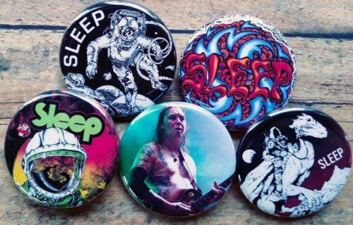 "Doom Metal Pin Badge Lot of 5-1.25/"" Stoner rock Sleep Band Buttons"