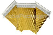 10 x SHINY METALLIC GLOSS GOLD FOIL BUBBLE PADDED ENVELOPES BAGS 180x250mm D/1