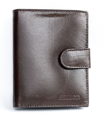 Men's brown genuine leather wallet. Safe Worldwide delivery. Immediate shipment.