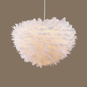 Image is loading Nordic-Lantern-Nest-Feather-Ceiling-Chandelier-Pendant-L& - & Nordic Lantern Nest Feather Ceiling Chandelier Pendant Lamp ...