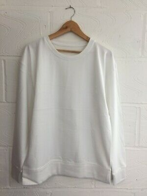 10x White Plain Sweatshirts Pack - Unisex Sizes M. L Ready For Printing