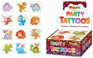 72-Dinosaur-Tattoos-6-Packs-Of-12-Loot-Party-Bag-Fillers-Kids-Temporary
