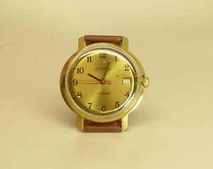 Vostok-Wostok-mechanical-Watch-Date-Russian-17-jewels-2414A-cal-gold-plated