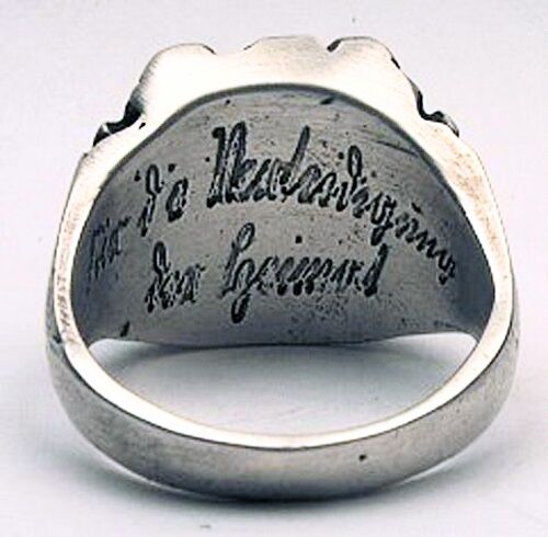 MK-art Militaria Ring Fingerring Heimatring Schlesien