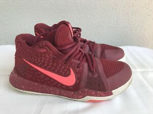 bab21d864e8 EUC NIKE KYRIE 3 Kids Boys Girls SIZE US 3Y Team Red White Hot Punch ...