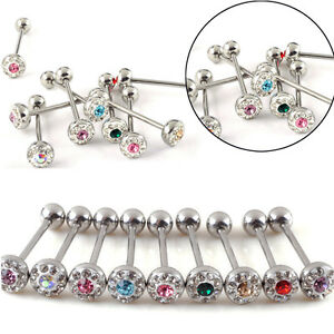 12X-316-Surgical-Steel-Tounge-Nipple-Rings-Bars-Barbell-Body-Piercing-Jewelry