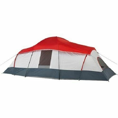 10 Person 3 Room Cabin Cabin Room Tent with Side Entrances Camping Outdoor Shelter Hiking 45b5cb