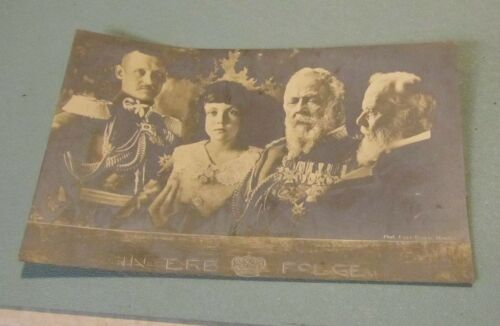 1900 Era German Royalty Line of Succession Wilhelm II Real Photo RPPC Postcard