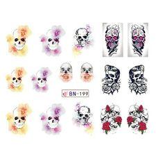 Nail Art Sticker Water Decals Transfer Stickers Halloween Skulls (DB199)