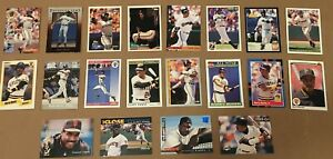 BARRY-BONDS-20-CARD-LOT-LEAF-UPPER-DECK-SCORE-TOPPS-FLEER-COLLECTOR-CHOIC-GIANTS