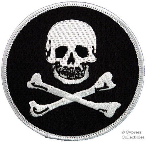 Sew On Skull And Crossbones Patch For Jacket Or Shirt Embroidered Ebay