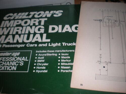 1989 MAZDA RX7 WIRING DIAGRAMS SCHEMATICS MANUAL SHEETS SET