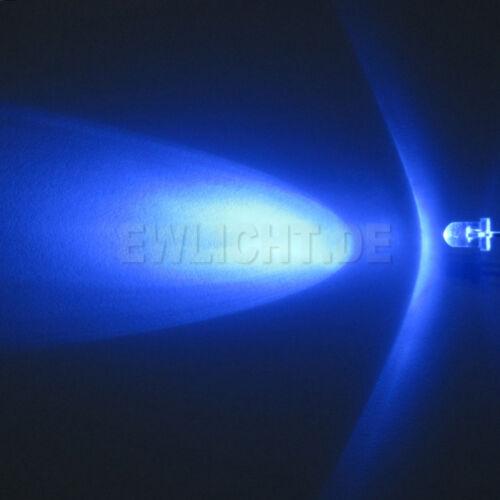 20 LED 3mm BLU 3000mcd LED BLU BLUE PC MODDING AUTO MACCHINA MODELLISMO