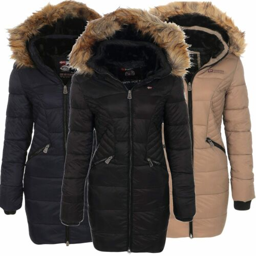 Geographical Norway Donna Invernale Cappotto Giacca Coat Parka steppmantel Anorak