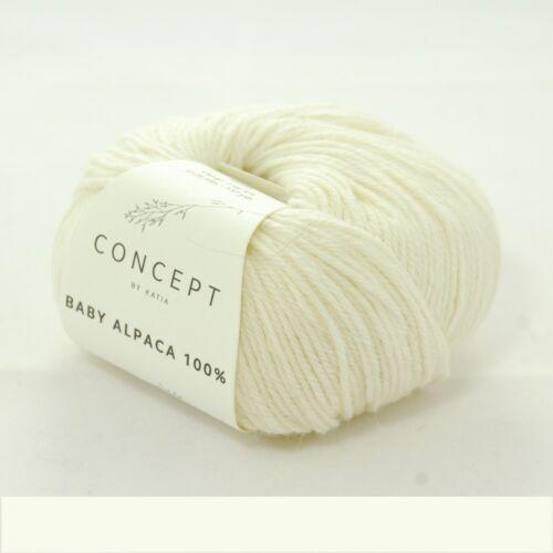 50g lana-colores diferentes Concept by Katia Baby Alpaca 100/%