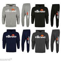 Ellesse Logo Cotton Jogging Suit Tracksuit Hooded Top Bottoms Track Suit Gym