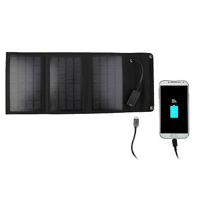 15W Folding Solar Panel Travel Camping Portable Battery Charger BE
