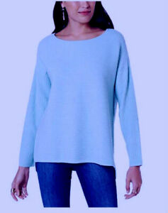 Women/'s Ribbed Boatneck Pullover Sweater Assorted Colors Style /& Co