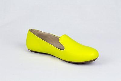 Para Mujer Bailarina Ballet Bombas Dolly Damas Plana Amarillo Mocasines Zapatos Talla 3-8 Reino Unido