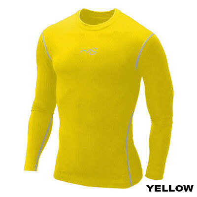 Boys Kids Compression Armour Base Layer Top Long Sleeve Thermal Gym Wear Sports