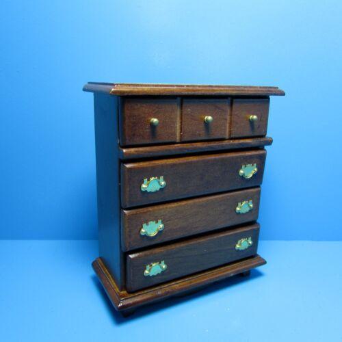 Dollhouse Miniature Bedroom Dresser ~ Wood in Walnut ~ T6842