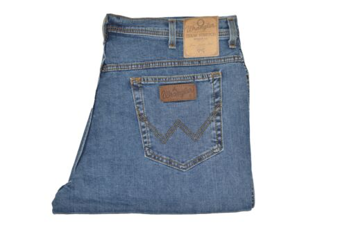 ORIGINALE WRANGLER Texas stretch men/'s Jeans Pantaloni Da Denim Blu Slavato W12133010
