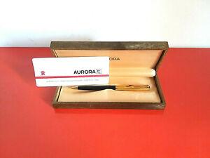 AURORA-penna-a-sfera-rivestita-in-oro-23-Kt-e-lacca-certificato-di-garanzia-box