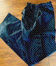 Chef Uniforms Cu Unisex Elastic Black Polka Dot Uniform Relaxed Pants Nwt Large