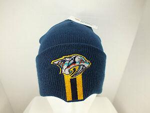 c1d5c43f897e3a Image is loading NASHVILLE-PREDATORS-NHL-Hockey-cuff-Knit-Beanie-winter-