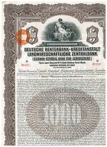 Deutsche-Rentenbank-Kreditanstalt-1927-1000-Gold-Bond