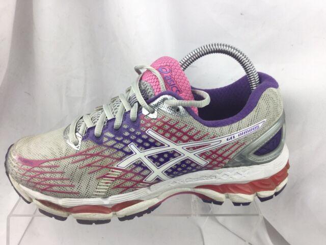 reputable site c0c9f 6367c ASICS GEL Nimbus 17 Womens Gray Mesh Athletic Lace up Running Shoes 12