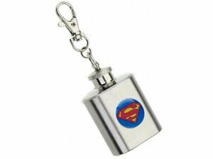 SUPERMAN-LOGO-1floz-HIP-FLASK-KEYRING