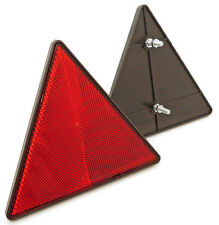 Triangular Trailer / Caravan Reflector- Bolt Fitting Red Rear Triangle Reflector