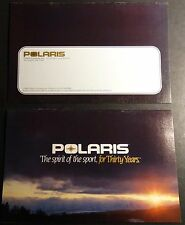 """1985 POLARIS SNOWMOBILE SALES BROCHURE 9"""" X 6"""" 16 PAGES VERY NICE (880)"""