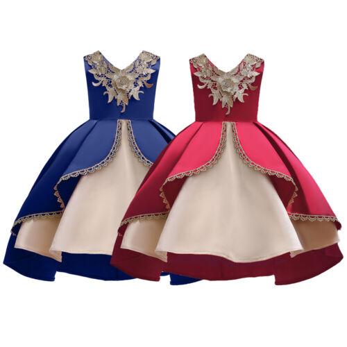 Flower Girls Dress Wedding Bridesmaid Princess Party Pageant Ball Kids Dresses
